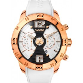 Breeze Pop Sugar 47mm Chronograph Rose Gold Rubber Strap 110321.1