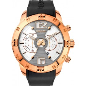 Breeze Pop Sugar 47mm Chronograph Rose Gold Rubber Strap 110321.3