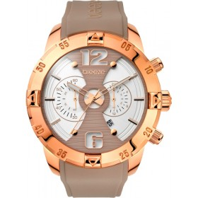 Breeze Pop Sugar 47mm Chronograph Rose Gold Rubber Strap 110321.4