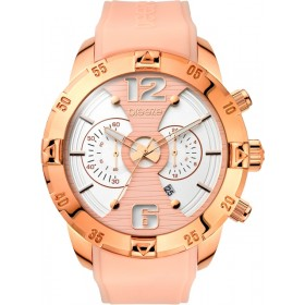 Breeze Pop Sugar 47mm Chronograph Rose Gold Rubber Strap 110321.9