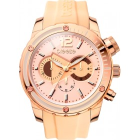 Breeze Style Compass 47,5mm Chronograph Rose Gold Rubber Strap 110401.3