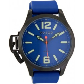 OOZOO Steel 45mm Blue Rubber Strap 0S407