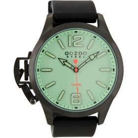 OOZOO Steel 45mm Black Rubber Strap 0S409