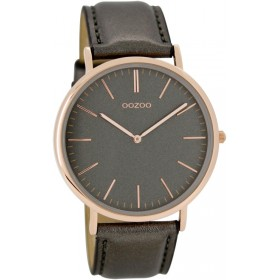 OOZOO  Vintage Rosegold Grey Leather Strap C6947