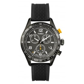 TIMEX Kaleidoskope 41mm Chronograph Black Rubber Strap T2P043